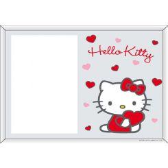 Portafotos serigrafiado Hello Kitty modelo Corazón
