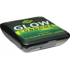 """Preservativos fluorescentes """"Brilla en la oscuridad"""""""