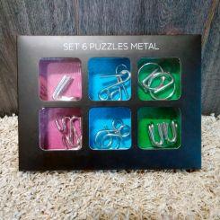 6 Puzzles de nudos de metal