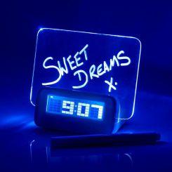 Reloj despertador mensajes iluminados, Scribble Clock