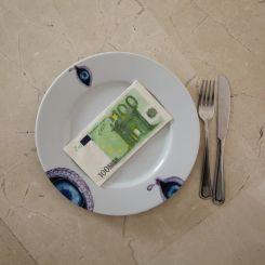 Servilleta de papel de 100 Euros