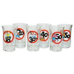 Set 6 vasos de chupito cumpleaños
