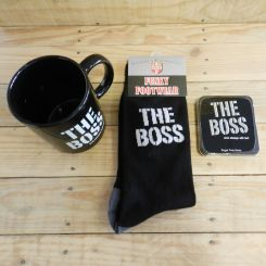 Set The Boss: Taza, calcetines y mentolados
