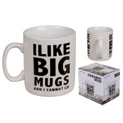 "Taza gigante ""I like Big Mugs"""