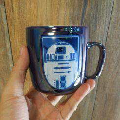 Taza R2-D2 azul metalizada, Star Wars