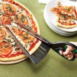 Tijeras con espátula para servir Pizza