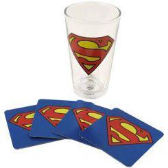 Vaso Superman con 4 posavasos