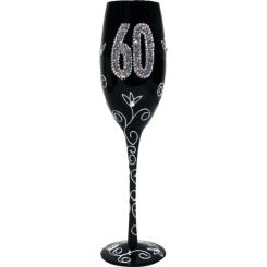 Copa de Champagne negra 60