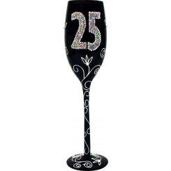 Copa de Champagne negra 25