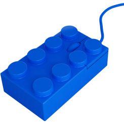 Ratón ordenador brick azul