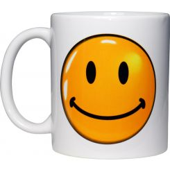 Taza emoticono Smiley, Contento y Triste (2 caras)