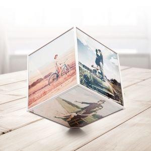 Marco para 6 fotos Kube: Cubo giratorio