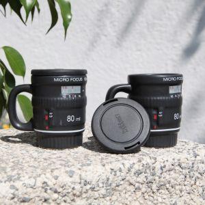 Set 2 tazas mini objetivo de cámara