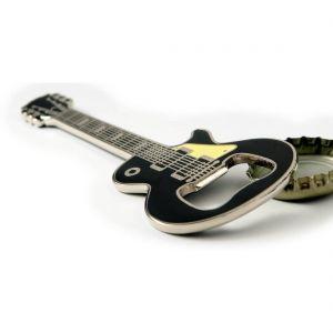 Guitarra Les Paul negra imán abridor de botellas