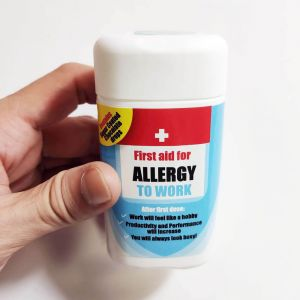 Allergy to Work Chocdrops, mini chocolatinas de broma para la alergia al trabajo