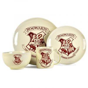 Set vajilla 4 piezas escudo de Hogwarts