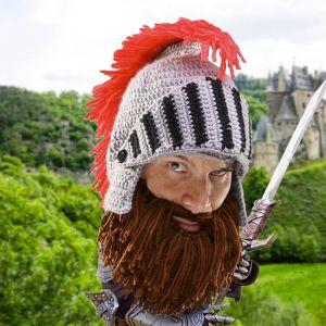 Gorro con crin, barba y visor de Caballero bárbaro
