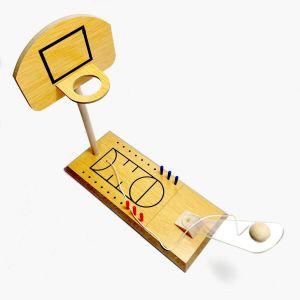 Juego de basket en miniatura de madera