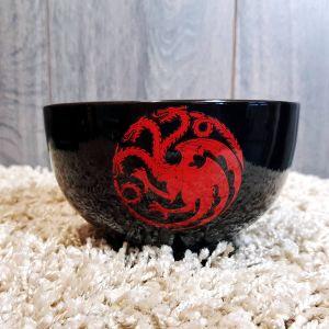 Bol casa Targaryen de Juego de Tronos