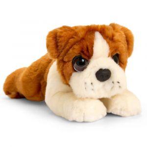 Cachorro Bulldog de peluche 32cm