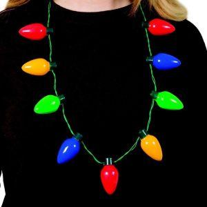 Collar con luces de navidad