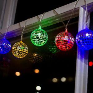 Cadena de luces Bola espejos Disco