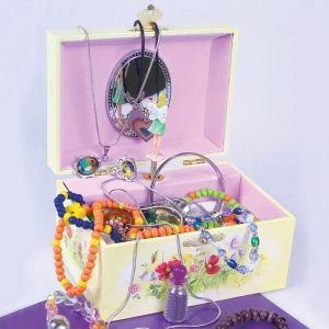 Caja de música con una Hada para guardar joyas. Joyero musical