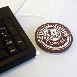 Calienta tazas USB: Powered by Coffee
