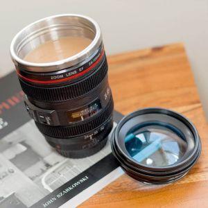 Taza Objetivo cámara réflex con lente