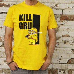 Camiseta Kill Gru Minions amarilla