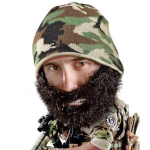 Gorro con barba tupida Camuflaje verde