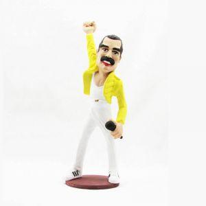 Figura de resina caricatura de Freddie Mercury