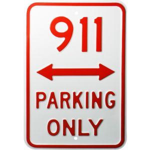 "Placa decorativa de acero ""Parking only 911"""