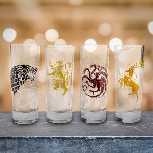 Set 4 Vasos chupito casas Juego de Tronos