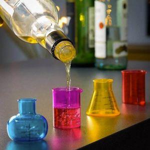 Set 4 chupitos química (probetas)