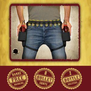 Cinturón cowboy para chupitos y latas o botellas