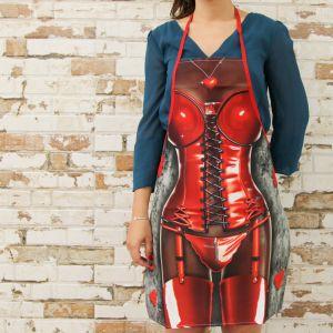 Delantal sexy ropa interior latex