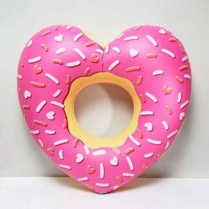 Flotador Donut rosa Gigante con forma de Corazón