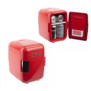 Mini nevera portátil roja para latas