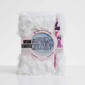 "Libreta de felpa Llama Famalam ""Are you FUR-REAL?"""