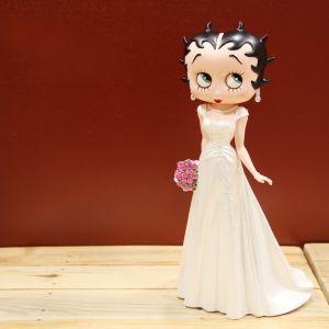 Figura Betty Boop vestido de novia