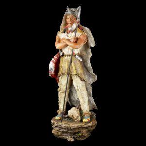 Figura Indio Americano con Piel de Lobo