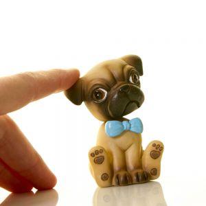 Figurita perro Carlino cabeza movimiento