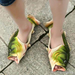 Sandalias pez verde
