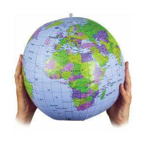 Globo mapa mundi hinchable