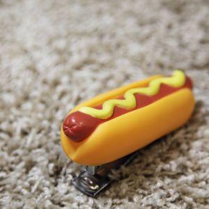 Grapadora Hotdog con mostaza