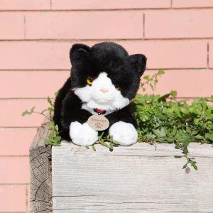 Gato peluche Smudge blanco y negro