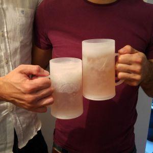 Set 2 Jarras de Cerveza para congelador (mucho más fría)