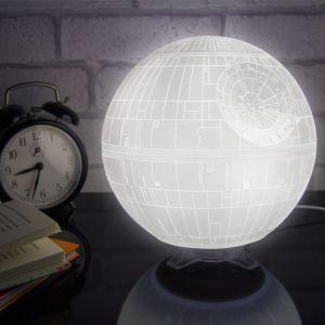 """Lámpara ambiental blanca """"Estrella de la Muerte"""""""