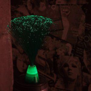 Lámpara mini de fibra verde